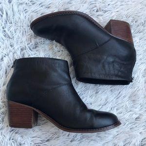TOMS | Carpe Diem Black Leather Booties